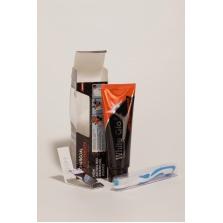 Bělící zubní pasta CHARCOAL 150g + zubní a mezizubní kartáček zdarma